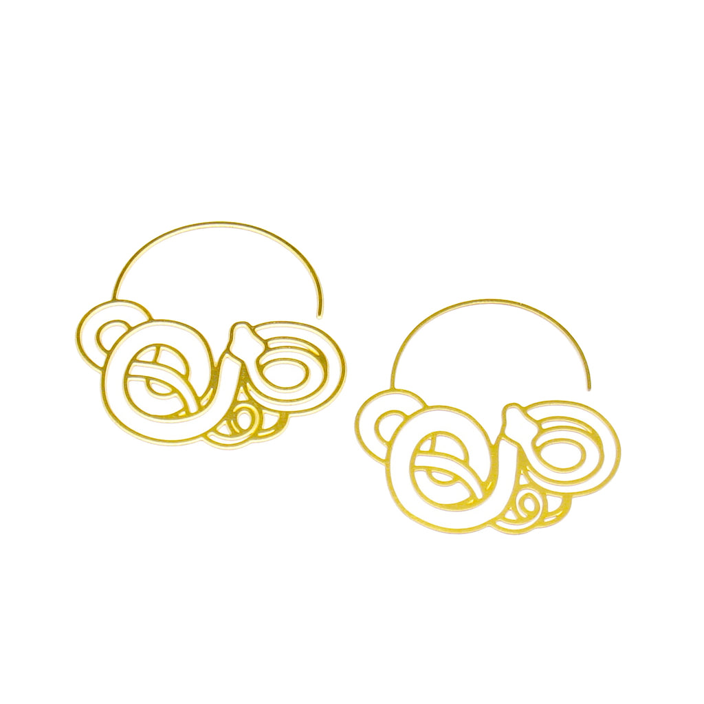 Tangled Snake Hoop Earrings