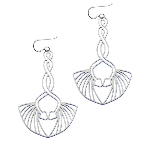 Winged Snake Earrings
