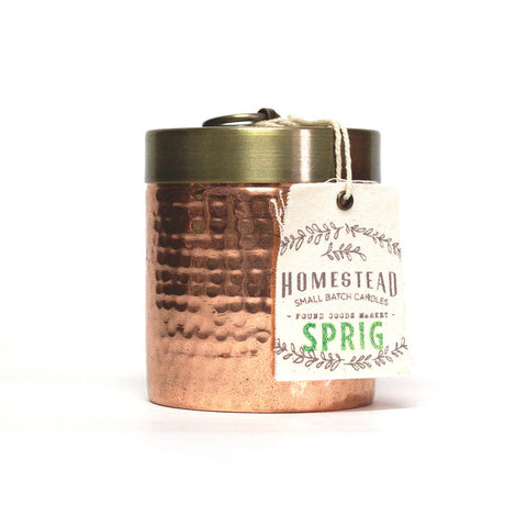 Mini Hammered Canister Candle
