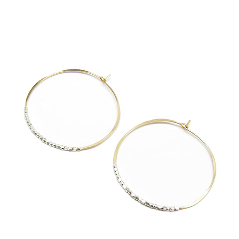 Large Bead Hoop Earrings