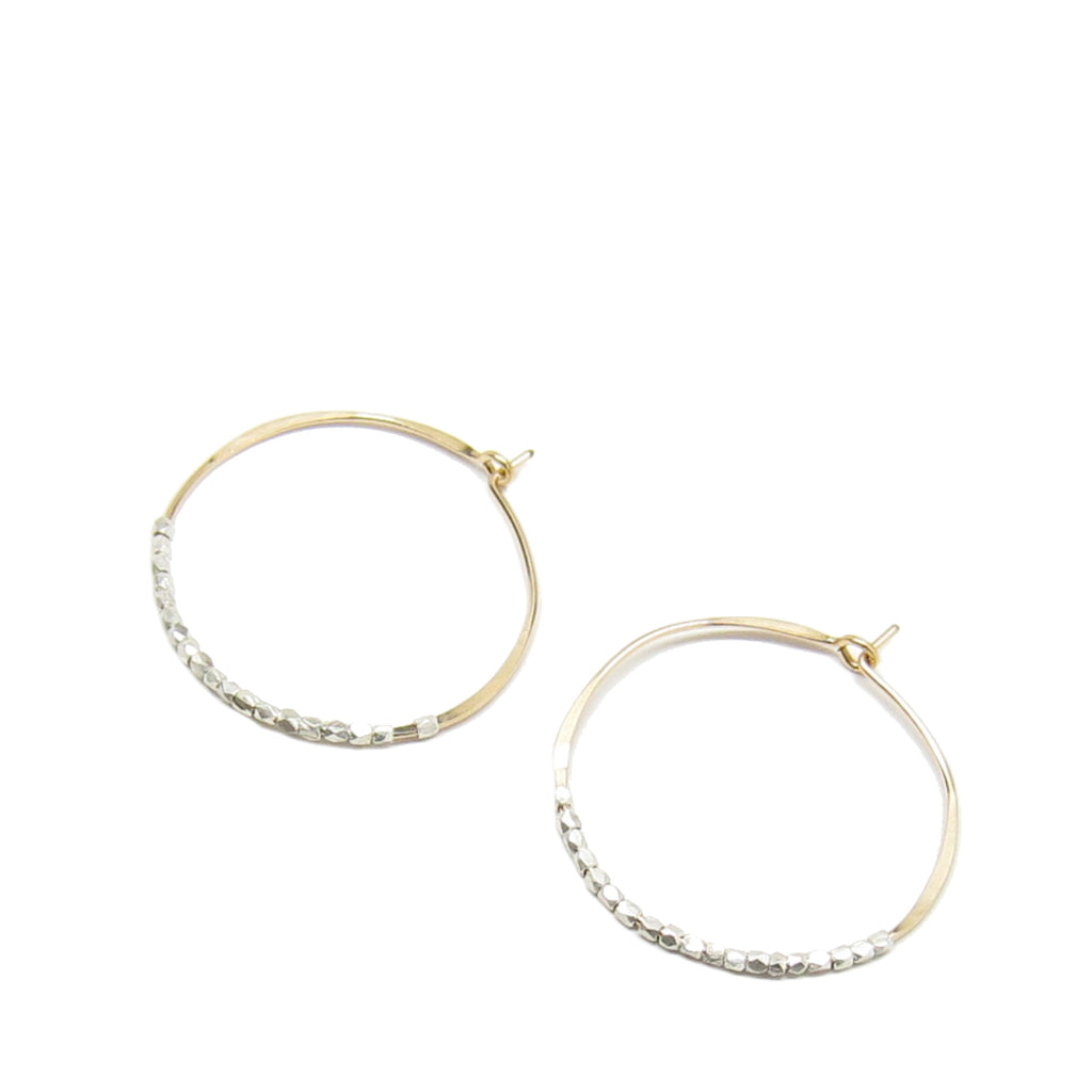 Medium Bead Hoop Earrings