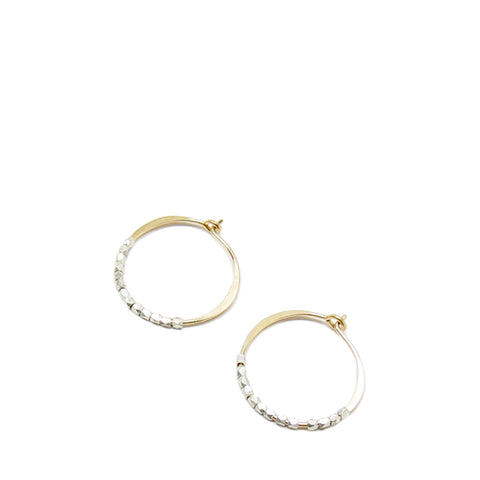 Small Bead Hoop Earrings