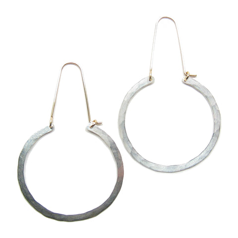 Bella Round Hoop Earrings