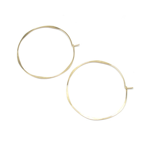Large Round Hoop Earrings
