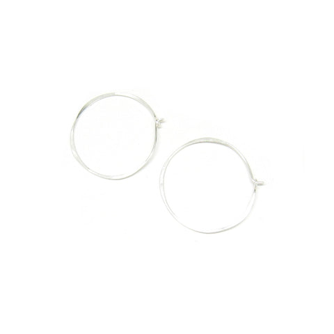 Medium Round Hoop Earrings