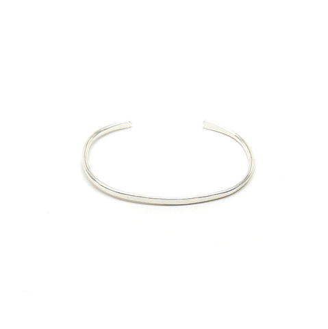 Sterling Silver Simple Forged Cuff Bracelet