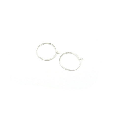 Small Round Hoop Earrings