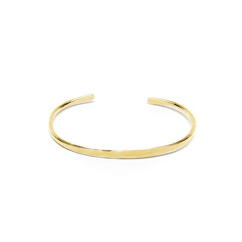 Gold Simple Forged Cuff Bracelet