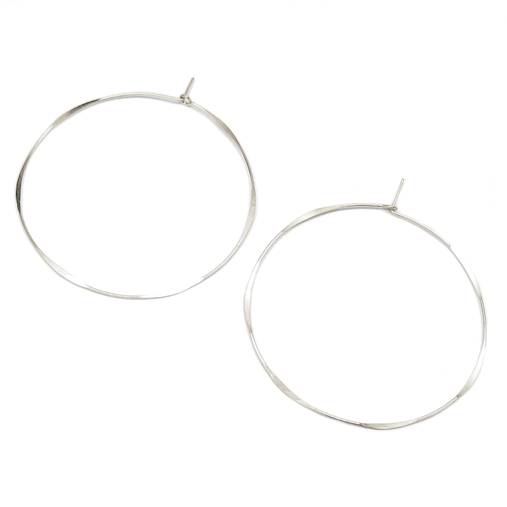 Extra Large Thin Round Hoop Earrings
