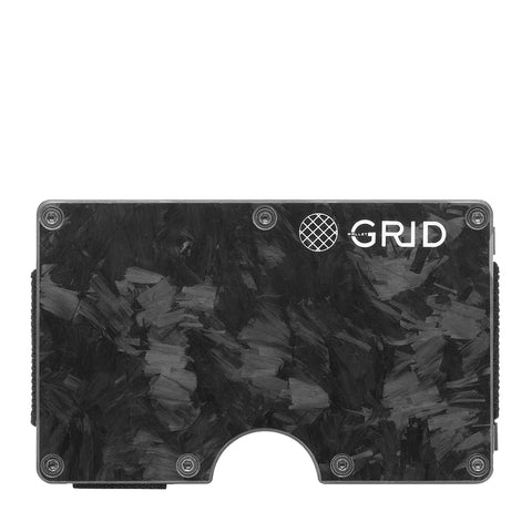 GRID Carbon Money Clip Wallet