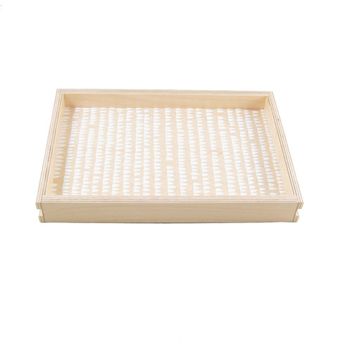 House Print Small Wood Tray