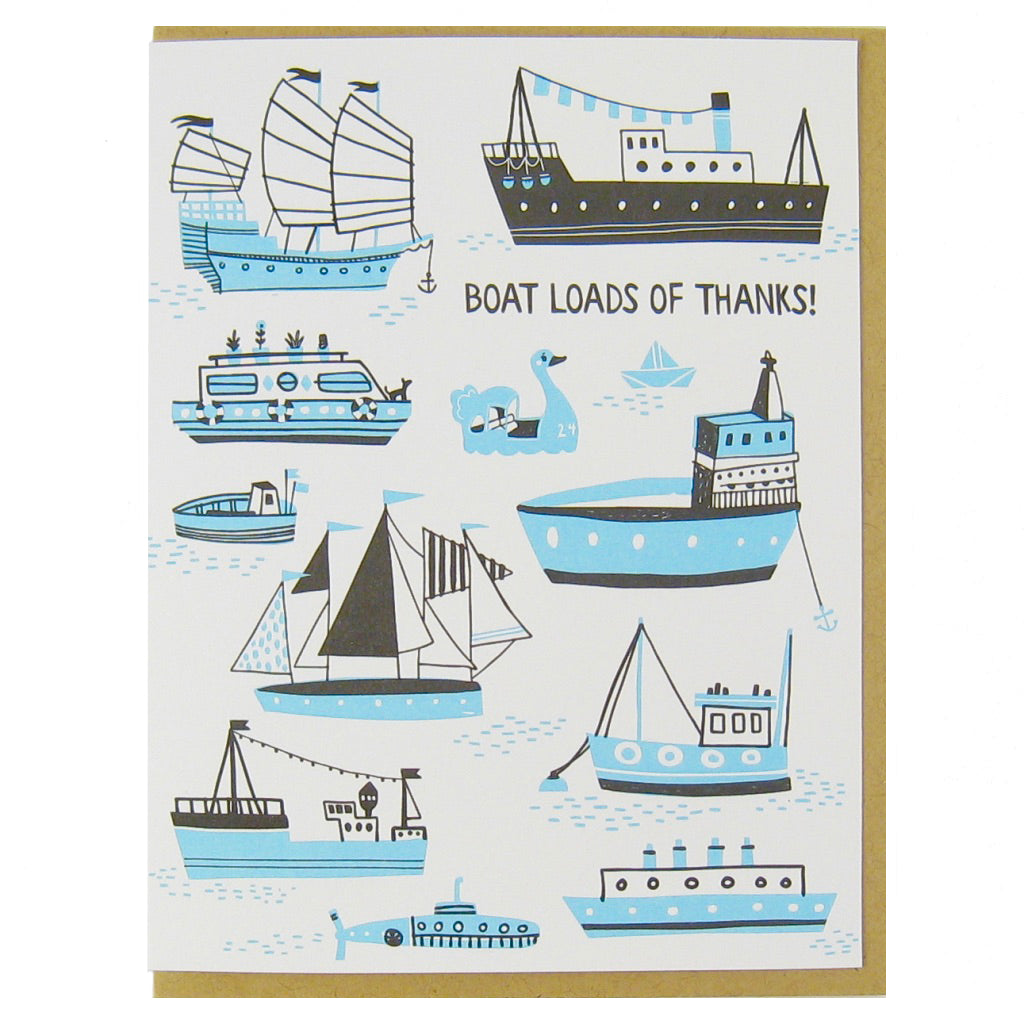 Boat Load of Thanks Card