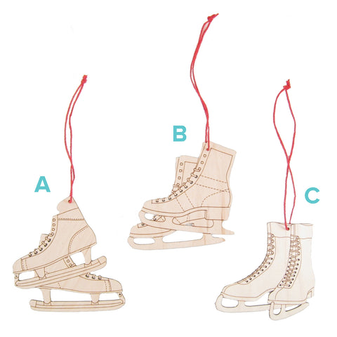 Ice Skate Ornaments