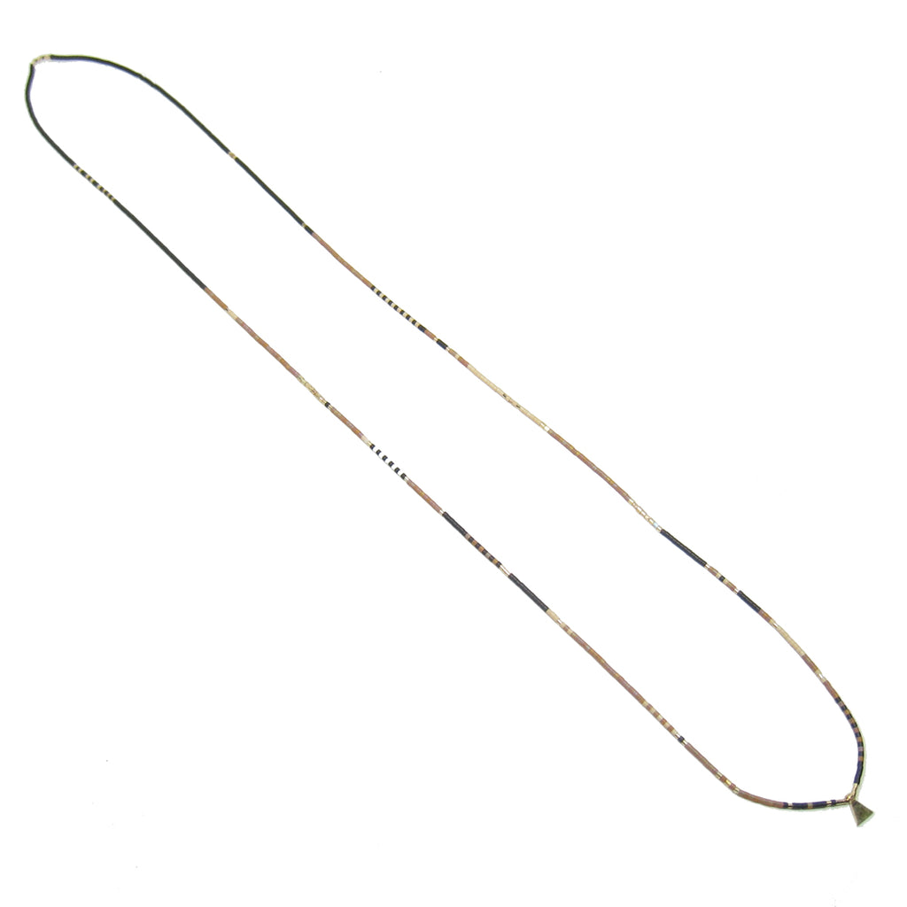 Long Dune Pattern Necklace