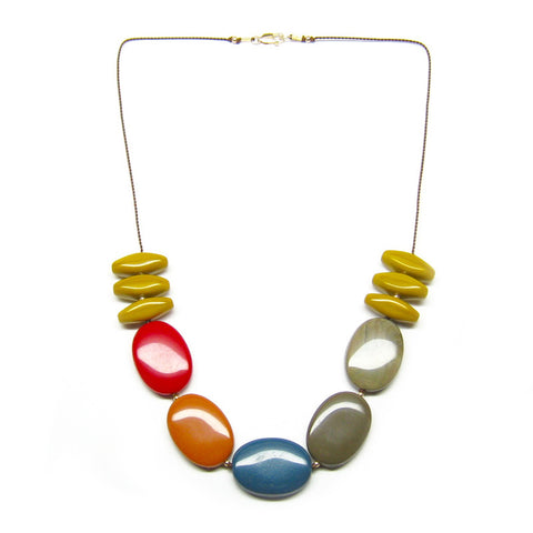 Vintage Lucite Oval Necklace