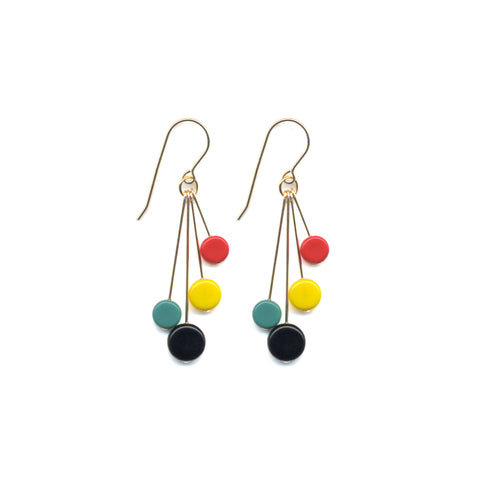 Bright Tablet Cluster Earrings