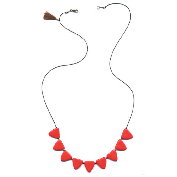 Long Triangles Necklace