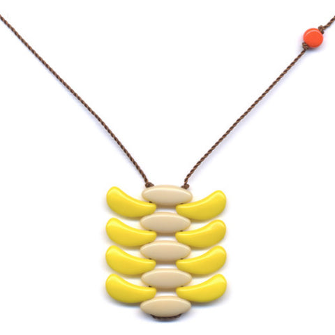 Yellow Weave Necklace