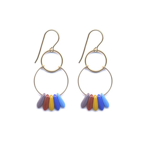 Scallop Hoop Earrings