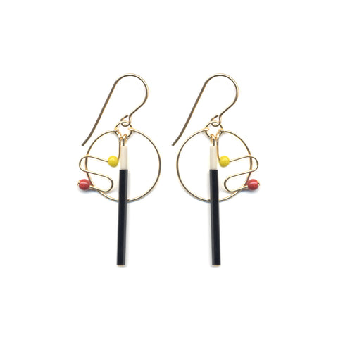 Lava Lamp Hoop Earrings