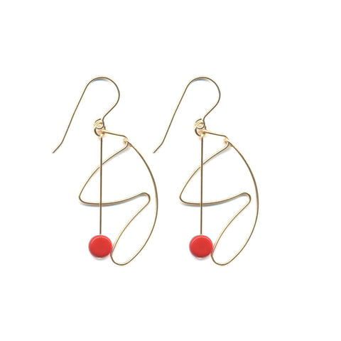 Picasso Hoop Earrings