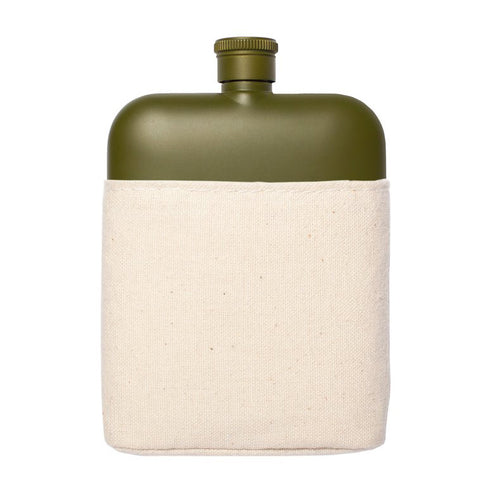 Flask with Canvas Carrier