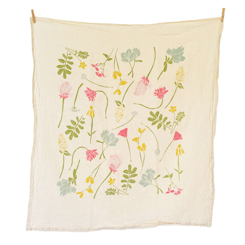 Western Region Wildflowers Towel