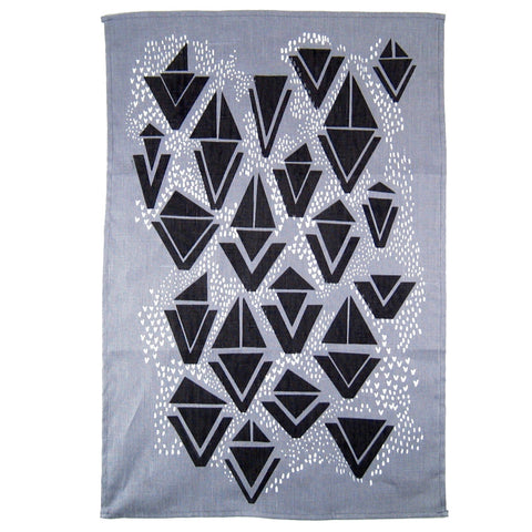 Wedge Print Tea Towel