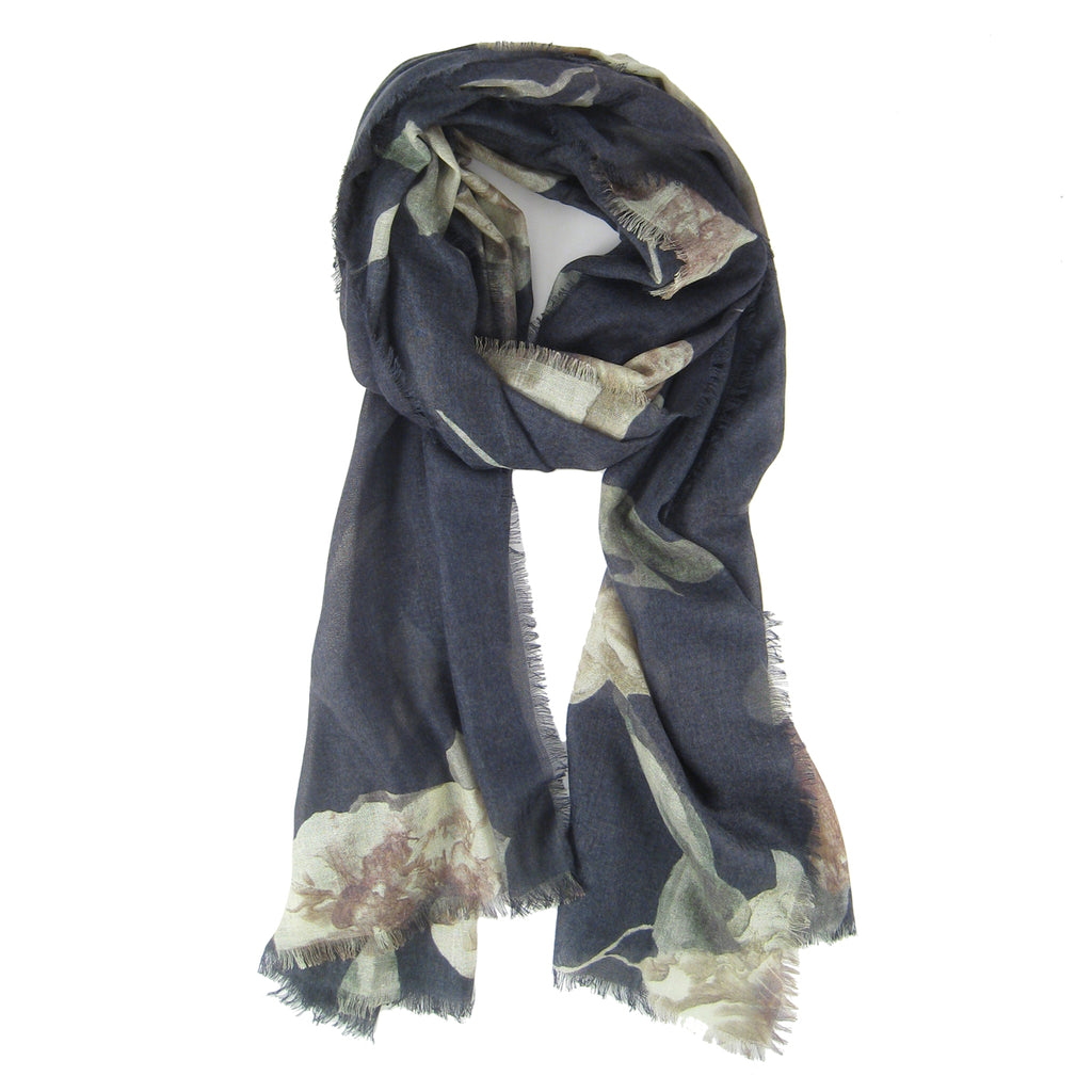 Autumn Bloom Print Scarf