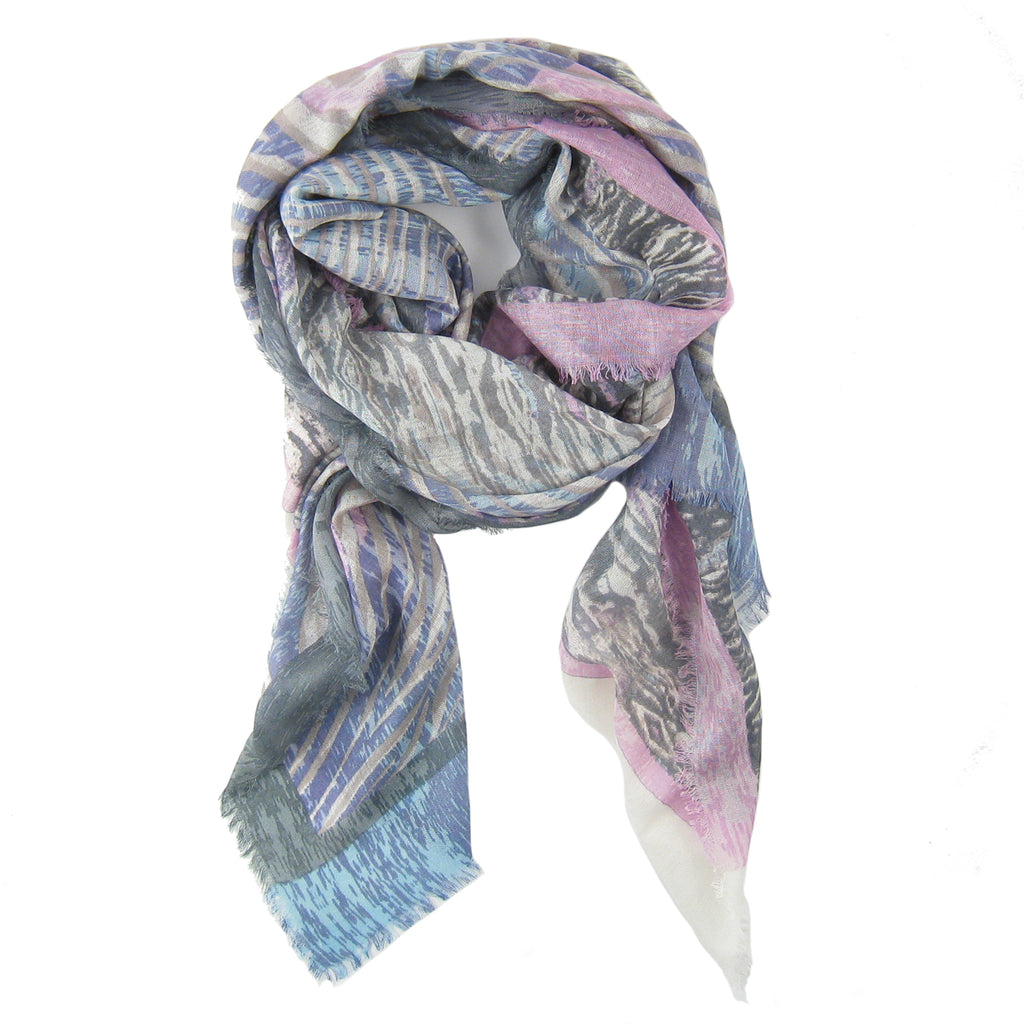 Animal Ikat Print Scarf
