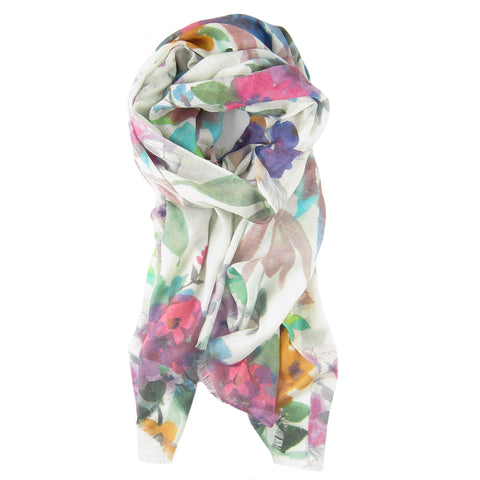Fresh Cut Flower Print Scarf