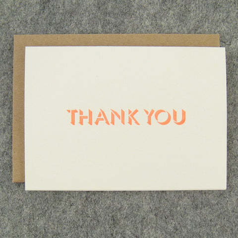 Fluorescent Thank You Card