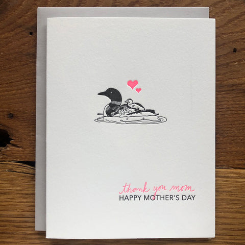 CLEARANCE - Mama Loon Mother's Day Card