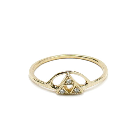 3 Triangle Sun Diamond Ring