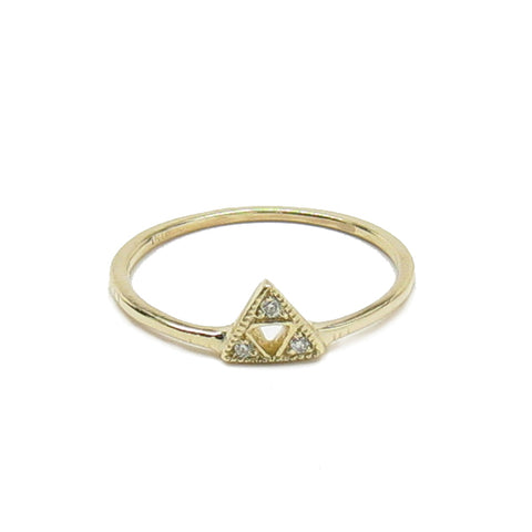 3 Triangle Diamond Ring