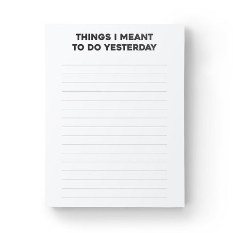 Things I Meant To Do Notepad