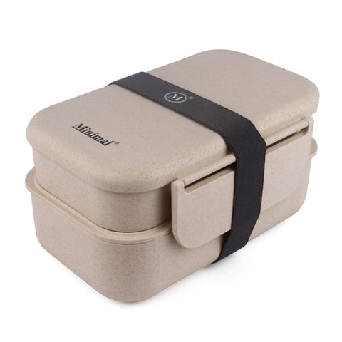Natural Fiber Bento Box Plus