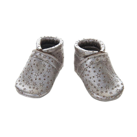Leather Star Baby Booties