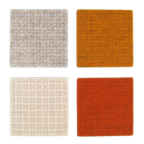 Lattice Felt Coaster Set