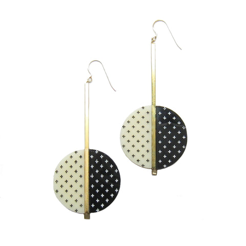 Plus Circle Drop Earrings