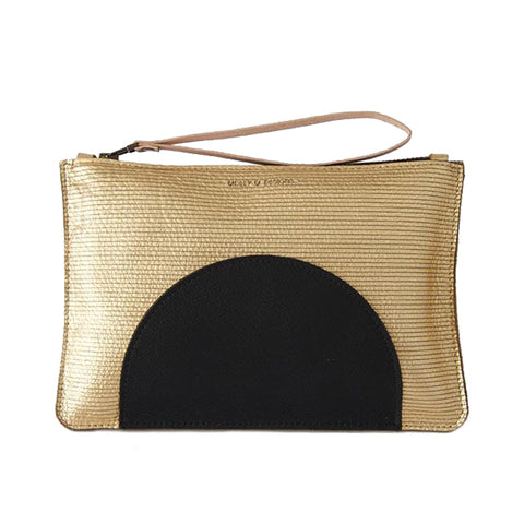 Semi Circle Zip Clutch