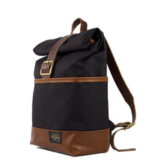 Nylon Leather Backpack