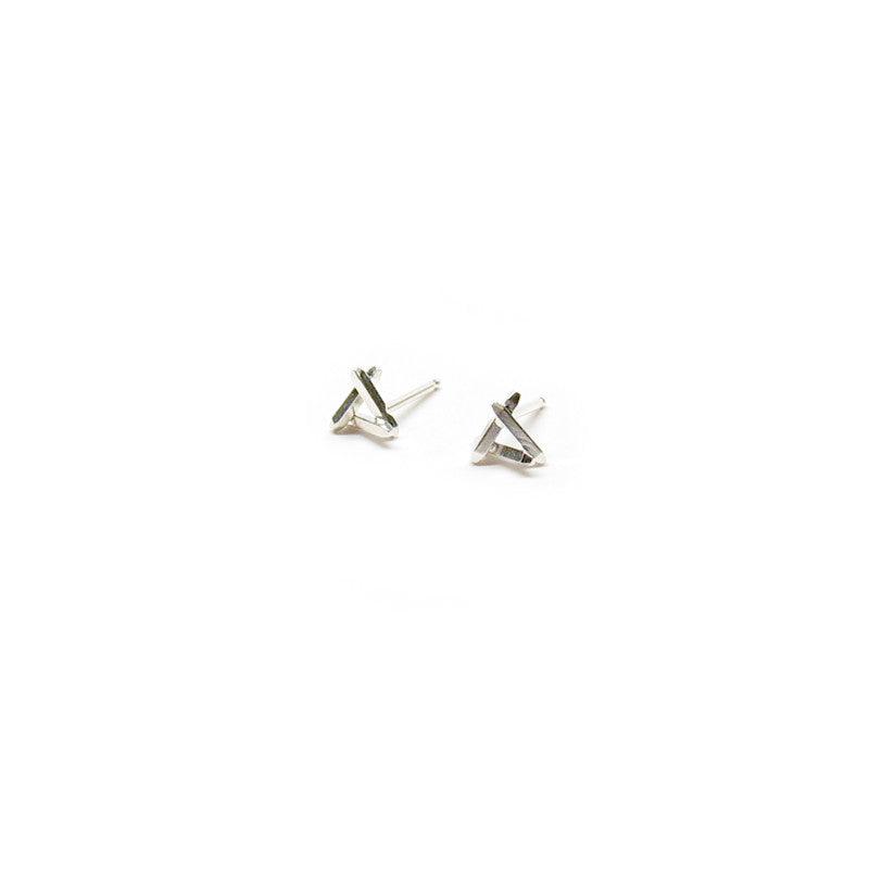 Triangle Sticks Stud Earrings