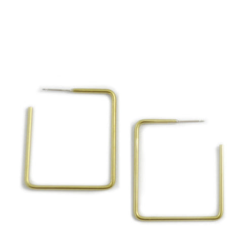 Simple Square Hoop Earrings