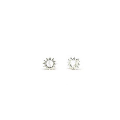 Open Sun Circle Post Earrings