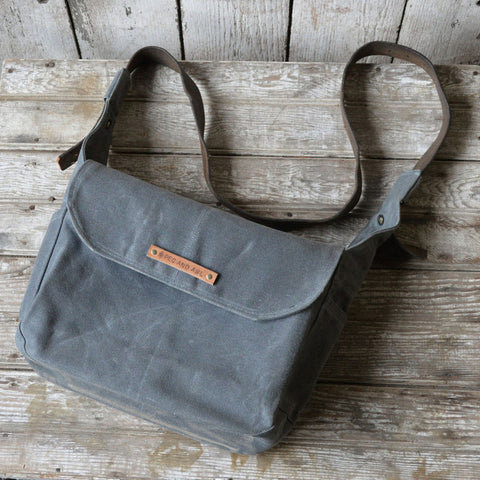 Finch Waxed Canvas Satchel