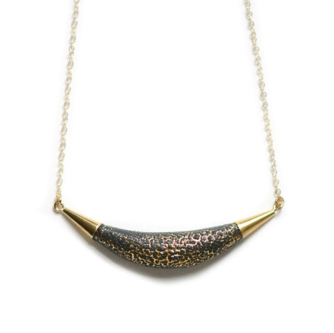 Black Lava Arc Necklace