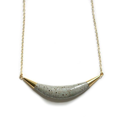Speckled Stone Arc Necklace
