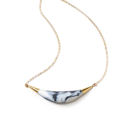 Marbled Arc Necklace