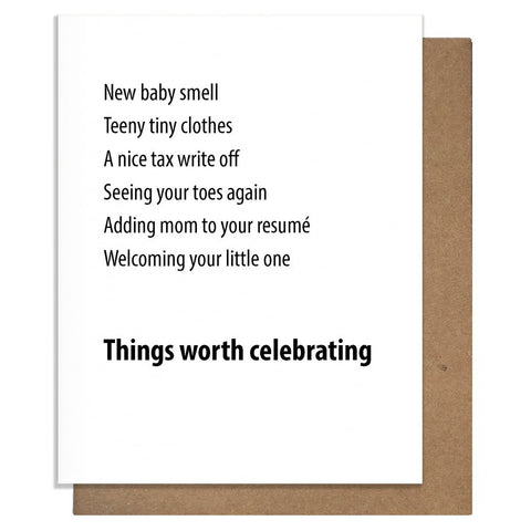 Worth Celebrating Baby Card